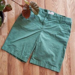 J. CREW Sage Green Ladies Bermuda Shorts Size 6